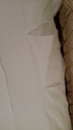 Hotel La Plantation: Oups! draps dechiré a trois endroits