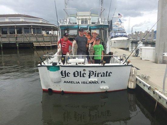 Fernandina Beach, FL: The family catch thanks to Ye Ole Pirate Fishing Charter!