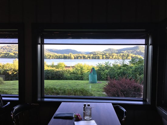 Trempealeau, WI: View of the Mississippi from our table area