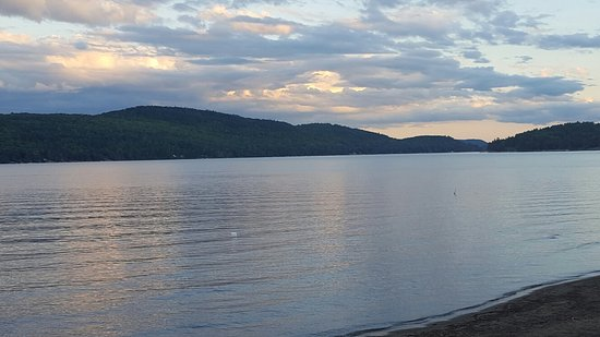 Schroon Lake view in August