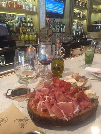 Caffe' Milano: Appetizers at the Bar