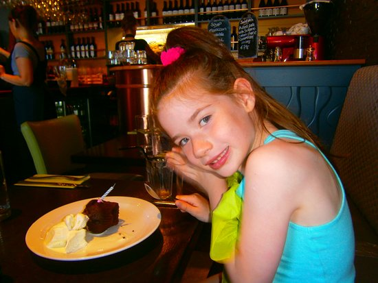Dungarvan, İrlanda: enjoying her free birthday muffin.