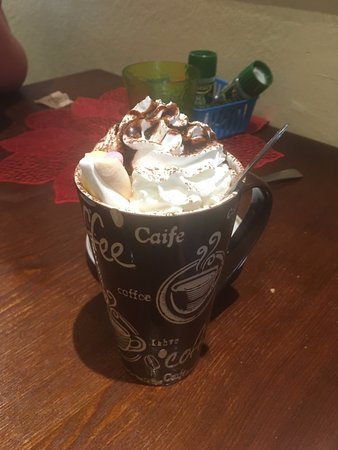 Around the World Cafe : Hot chocolate with lots of fun toppings.