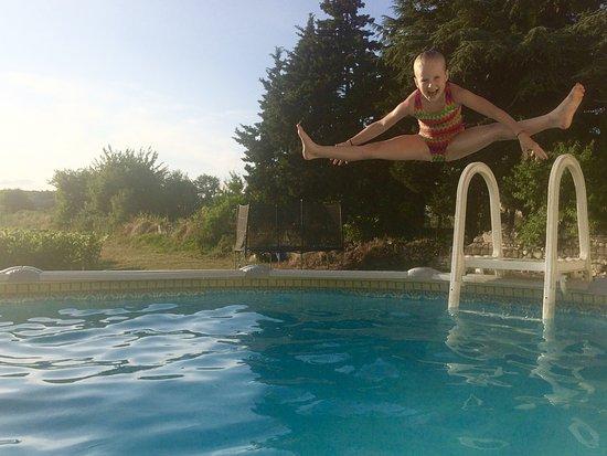 Saint Nicolas de Bourgueil, فرنسا: Cooling off in the pool
