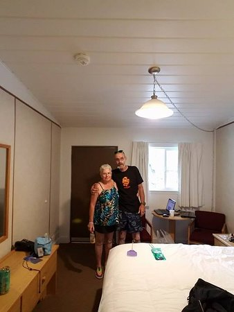 Big Iron Motel: my wife and I in the room