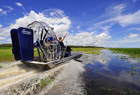 Darwin, Australie : Airboating at Mary River