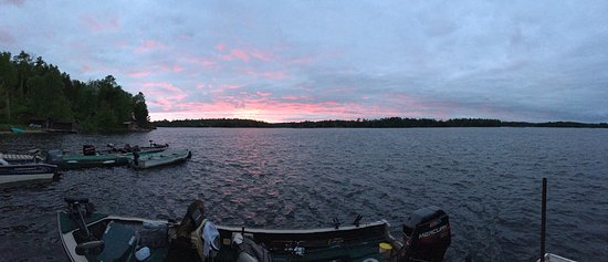 Ely, MN: Sunset from the resort dock.