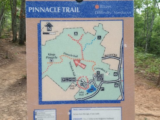 Crowders Mountain State Park: Map at the Turn around point