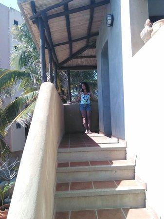 Posada Kanosta: Acceso a la terraza de la habitación