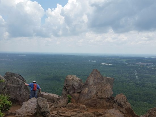 "Kings Mountain, Carolina del Norte: View from the top... the ""dangerous"" part"