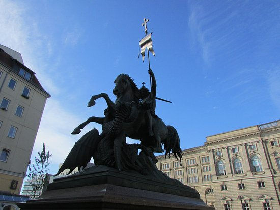 St. George and the Dragon Statue