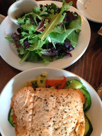 Luca's Mediterranean Cafe: Salad With Salmon