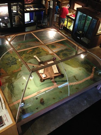 The centerpiece of the museum, a model of Fort Bedford. Best viewed from the second floor.