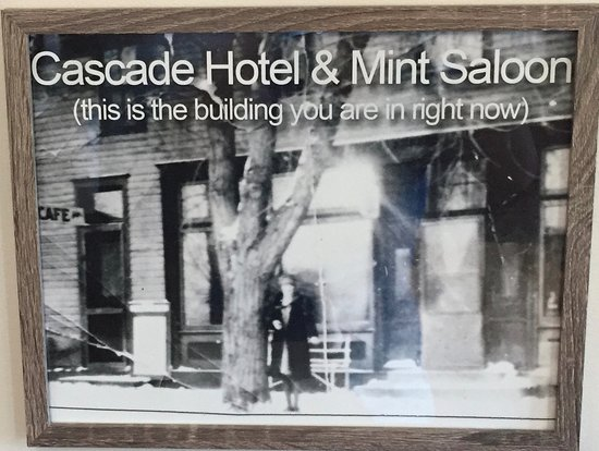 One of the vintage photos from Cascade that are on the walls.