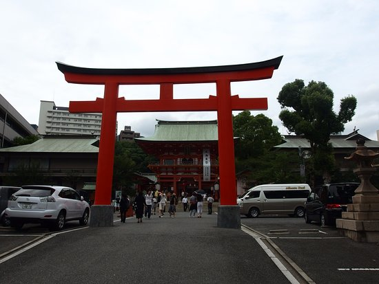 大鳥居 - 神戸市、生田神社の写...