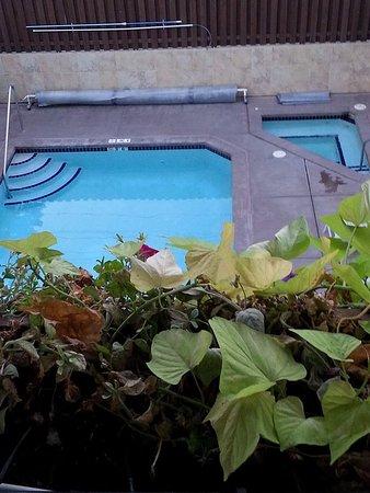 Bavarian Lodge: The pool and hot tub