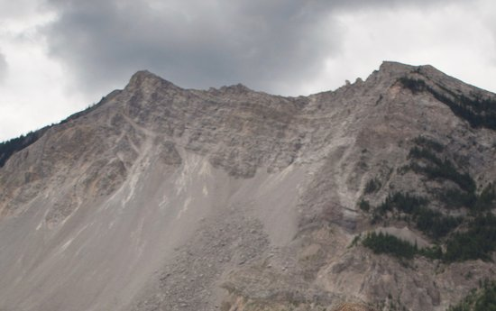 Crowsnest Pass, Canadá: The face of the slide