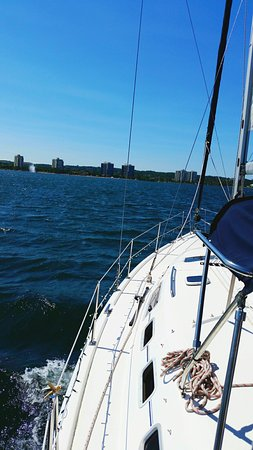 Barrie, Canada: My husband and I had a wonderful experience sailing aboard Chances R with Captain Phil. Relaxing