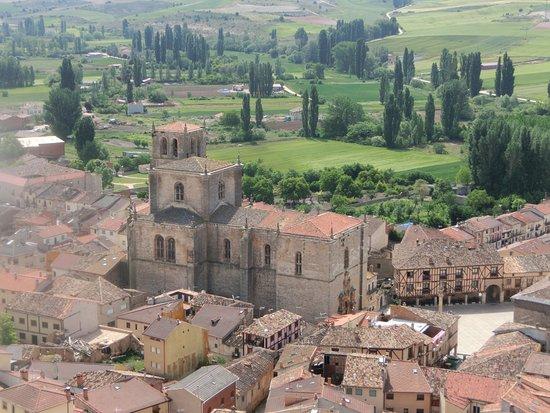 Peñaranda de Duero, España: Vista de la colegiata desde lo alto del castillo