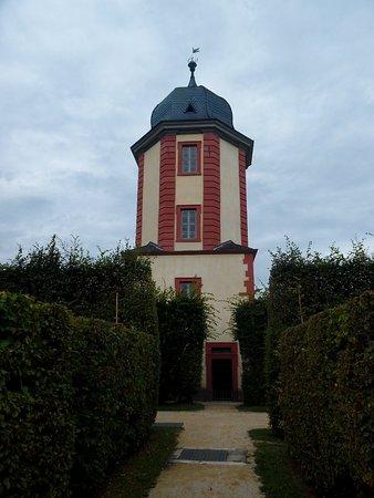 Veitshochheim, Duitsland: Wasserturm mit Pumpanlage