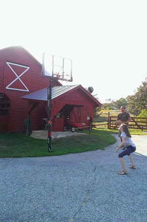 Salem, SC: Basketball goal by the barn