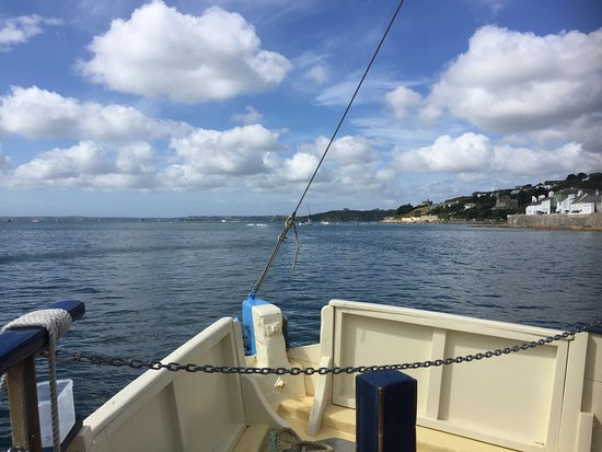 St Mawes, UK: Views from the ferry.