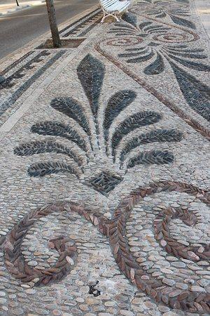 decorazione della strada romana foto di murallas de
