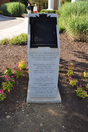 Wyndham Gettysburg: Gettysburg address plaque