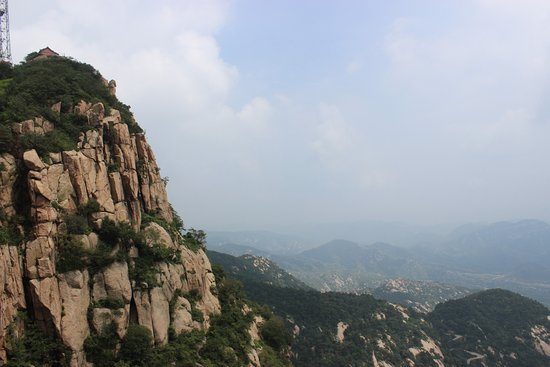 Zibo, Chiny: View from the first summit, trying to minimise the visual impact of modern life.