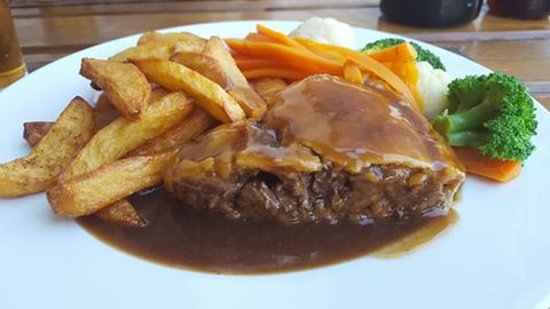Steak pie and chunky chips - Picture of The Wander Inn ...