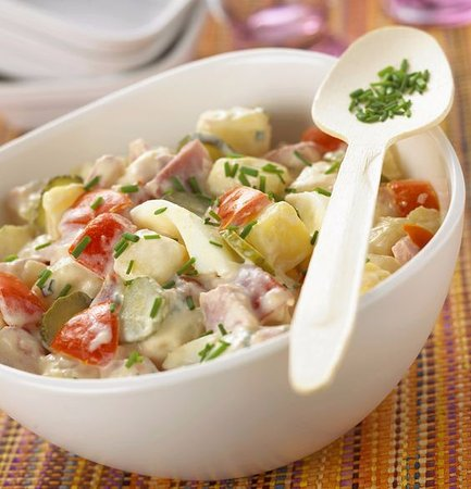 Salade De Pomme De Terre Thon Oeuf Mayo Cornichons Picture Of The