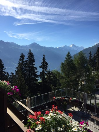 Les Collons, Switzerland: View from the balcony of Rm 6