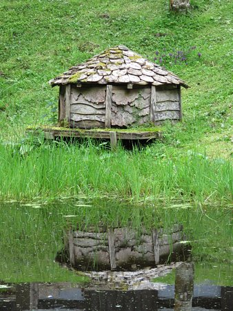 Calgary Art in Nature: A duck house in the grounds