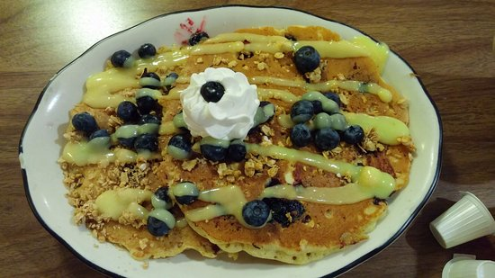 ... Country Deli & Restaurant: Lemon blueberry pancakes with granola