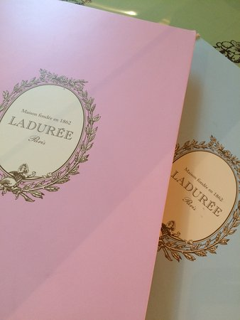 Pink And Blue Menu For Brunch Picture Of Laduree Kuwait City