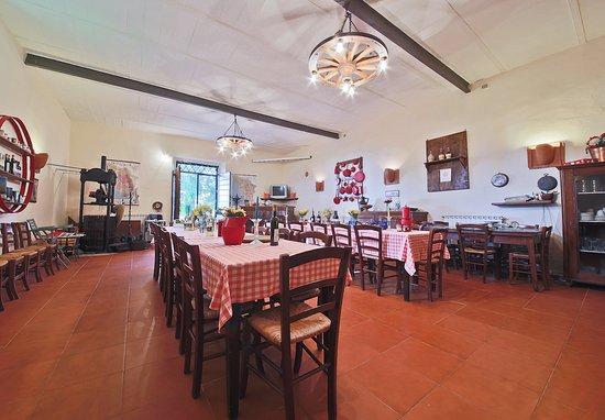 Agriturismo il poggio alle ville b b borgo san lorenzo for Sala pranzo vecchia