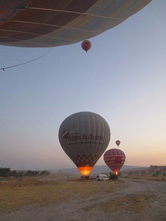 Stone Concept Hotel: Opstijgen van de warmeluchtballons. On the bucketlist!