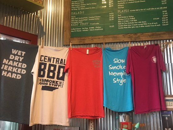 Central Pork BBQ T's, ready to take home  - Picture of