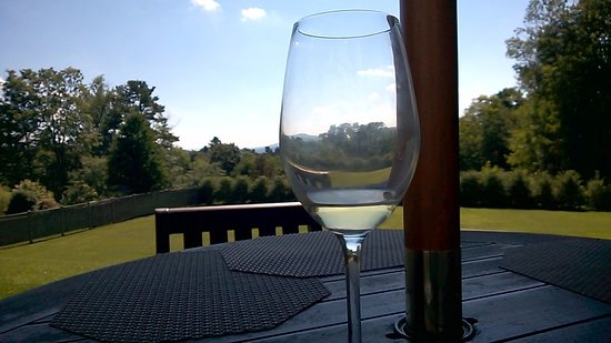 The Kemble Inn: The wine and the view