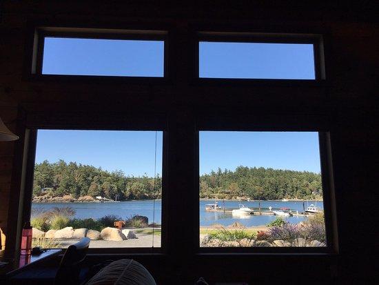 Snug Harbor Resort & Marina: View from cabin #9 front room.