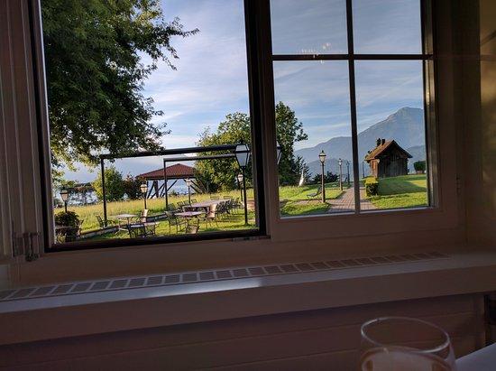 Hotel Restaurant Waldheim: View from restaurant (breakfast serving place)