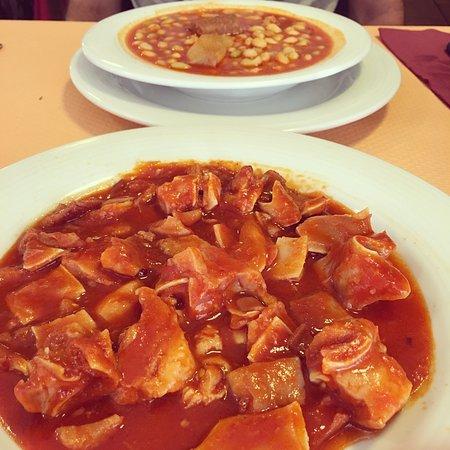 Сенисеро, Испания: Comida riquísima! Muy amables y rápidos. Menú 10€!!