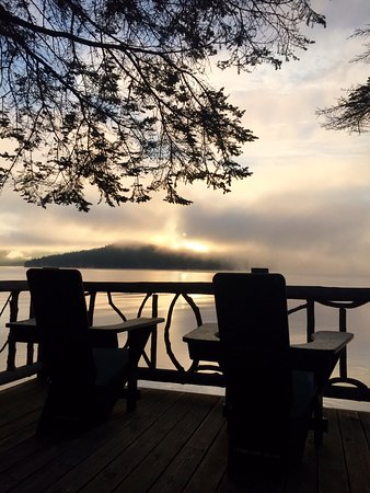 Sunrise from Buck cabin Lake Placid Lodge
