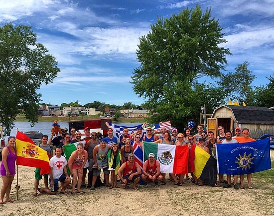 Boscobel, WI: We did an olympic themed canoe trip in honor of the 2016 Rio Summer Olympic Games!