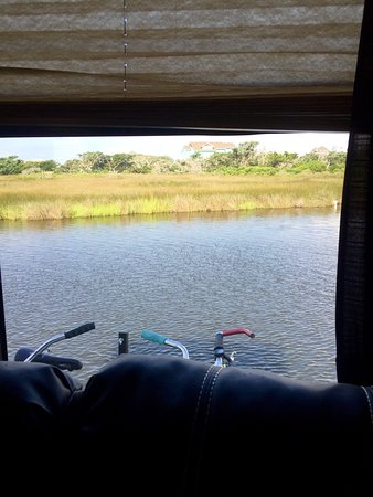 Hatteras Sands Campground: View out living area window