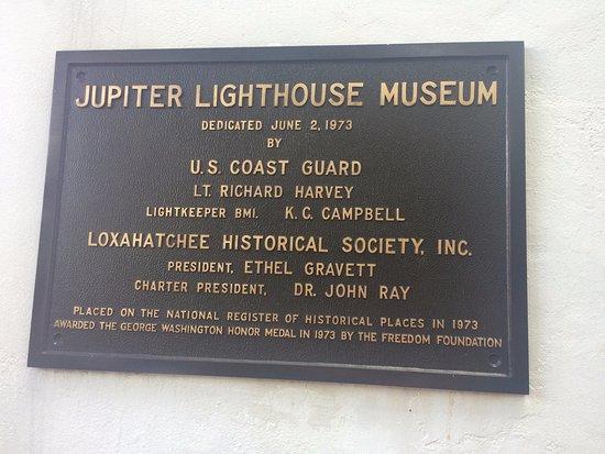 Jupiter, FL: Placa del museo
