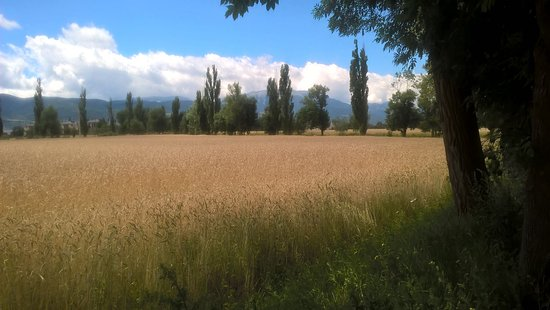 Camping El Paillès: Aux pieds de Puicerda petite ville espagnole a moins de dix minutes en auto. Très agréable ville