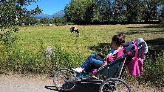 """Camping El Paillès: En route pour la randonnee seulement """" les accessibles"""" comme le chemin des amoureux de Puicerda"""
