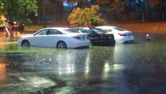 Rocky Mount, NC: Flooded vehicles due to poor drainage and slope of parking lot. Mgmt aware. Do nothing to avert!
