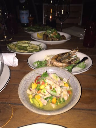 Michael's Genuine Food & Drink: ceviche, prawns oven,...